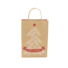Hot Selling Christmas Kraft Paper Gift Bag