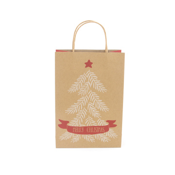 Hot Sälj Christmas Kraft Paper Gift Bag