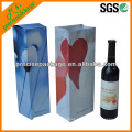 decorative single wine bottle paper bag for giving free