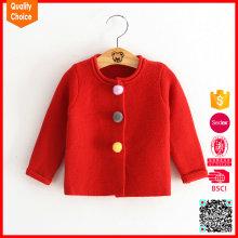 Lange Ärmel warme kundenspezifische Knöpfe für Baby-Pullover-Cardigan
