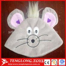 La nueva venta caliente del diseño embroma el sombrero encantador de la gorrita tejida del invierno de la felpa del ratón
