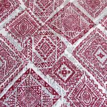 Tissu de robe de dame imprimé de tissu de coton synthétique tissé uni