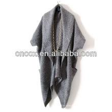 13STC5520 casaco de poncho de lã de senhora