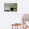 Impresión de la lona de la decoración del hogar de la impresión de la letra del diseño moderno Lona estirada para la sala de estar