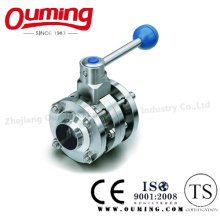 3PC Sanitary Butterfly Valve with Weld End