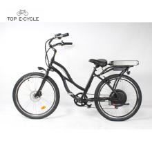Bicicleta / bicicleta eléctricas baratas del crucero de la playa de la potencia verde S2 en la acción para la venta
