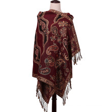 Langer Schal Plain Pashmina Warmer Schal für Winter Rot Farbe