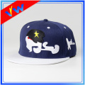 Customize 3D Embroidery Blue Crown Flat Bill Cap