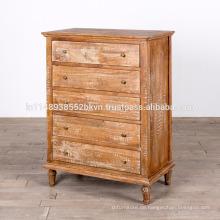 Antike Massivholz Weiß Waschen Finish Schlafzimmer Dresser