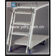 Warehouse Equipment / Warehouse und Supermarkt Ladder Trolley / Trittleiter mit Fach (YD-FT002)