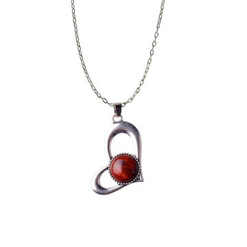 Red Jasper Heart Pendant for Necklaces Making