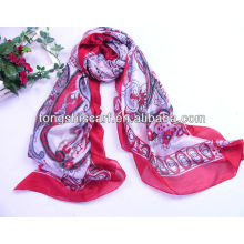 wholesale polyester printed square scarf