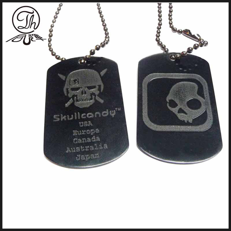 Personal metal dog tags ornament