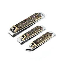 Cortador de unhas de aço inoxidável personalizado por atacado popular cortador de unhas