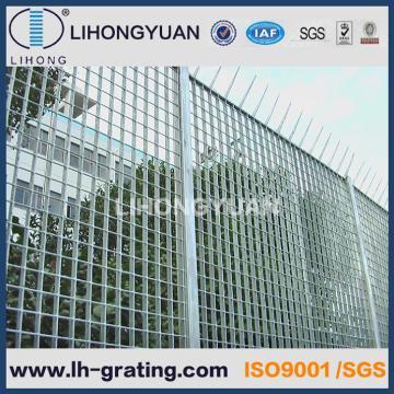 Acier galvanisé clôtures avec Flat Bars en caillebotis