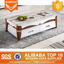 современная китайская мебель для гостиной мраморный верхний журнальный стол твердой древесины