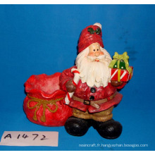 Resin Santa with Candy Holder for Christmas Decoration