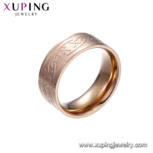 15124 xuping latest rose gold plated design stainless steel jewelry ring