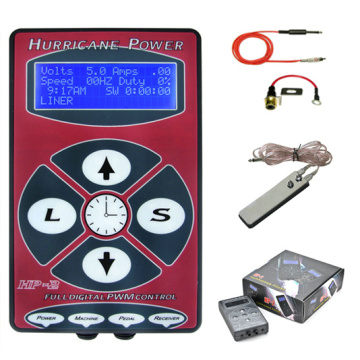 Hurricane Digital Tattoo Power Unit