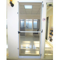 Hinged frame door with anti mosquito net screen