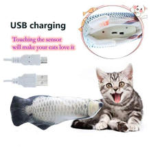 Electronic Cat Toys Interactive Electric Cat Toy Fish for Kitty Catnip Perfect for Biting Chewing Kicking Moves by itself