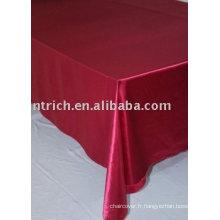 Nappe satin, couverture de table, linge de table de banquet/mariage