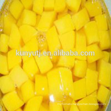 Canned yellow peach dices with high quality