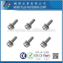 Feito em Taiwan Phillips Pozi Torx Pan Head Tamper Resistant Split Lock Ararelas Assemblado SEMS Parafusos