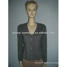 100%wool 16gg V Neck Cashmere Pullver