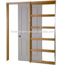 Únicos sistemas da porta do slider da cavidade da madeira com grupo nivelado da trilha