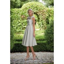 Vente en gros de bonne qualité Nouveau Cheap O Neck Cap Sleeve Short A Line Robes de demoiselle d'honneur LBS09