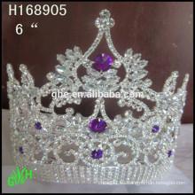 Corona camiseta corona de la corona de la corona de la niña de la perla del cristal corona del cumpleaños de la tiara de la corona