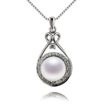 Snh 8.5-9mm 925silver Pearl Pendant Simple Design Necklace