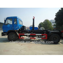 China new Peru garbage truck 10 tons,12000L pull arm garbage truck