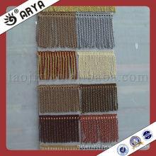 curtain polyester yarn tassel fringe brush trimming bullion fringe