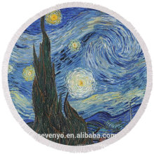 Abstract art of the night star sky pattern round beach towel RBT-073