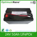 Paquetes de batería recargables de 24V 50ah LiFePO4