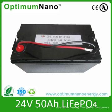 Pacotes recarregáveis da bateria de 24V 50ah LiFePO4
