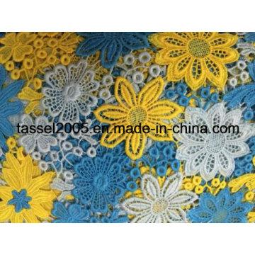Многоцветный Guipure Lace Fabric Factory
