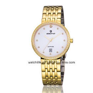 Cheap Diamond Stainless Steel Sapphire Watch Fashion Watch Quartz Couple Wrist Watch