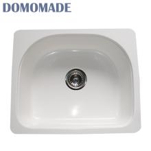 Design personalizado branco mate / branco brilhante resistente a produtos químicos pia bacia de lavagem