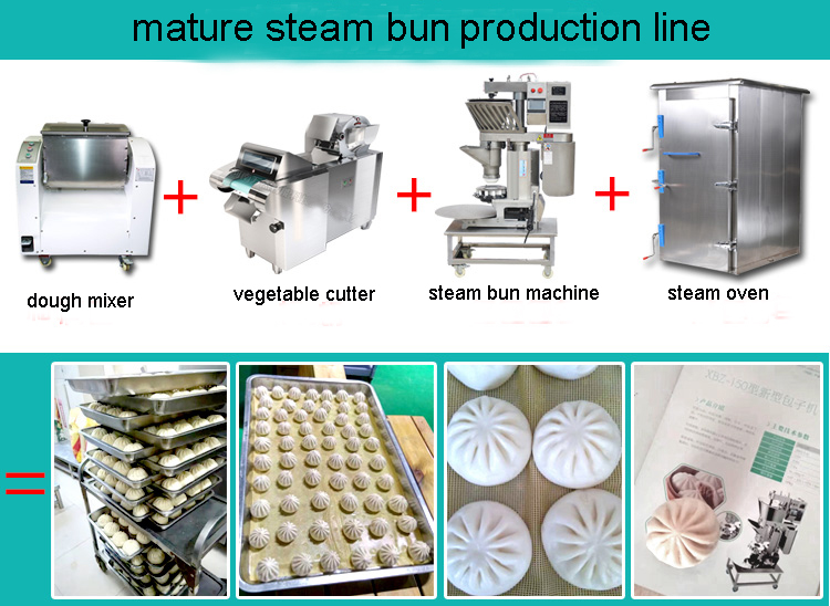 steam bun production line