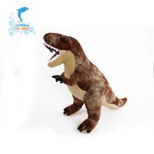 Juguete de dinosaurio de felpa relleno suave y animado personalizado