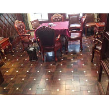 High Quality Indonesia Rosewood Mixed Marble Parquet Flooring
