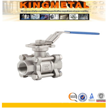 1000psi 3PC Stainless Steel Ss316 Ball Valve