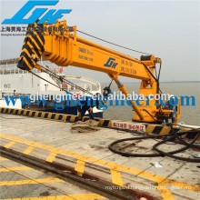 28m 2t small size hydraulic folding arm Telescopic davit Crane for sale