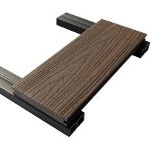 Decking composto plástico de madeira recicl exterior impermeável resistente ao fogo do ambiente por atacado