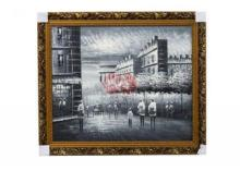 Handmade Oil Painting reproduction painting tower cityscape