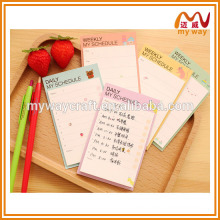 Weekly plan exercise book, Korean creative stationery, new products on china market