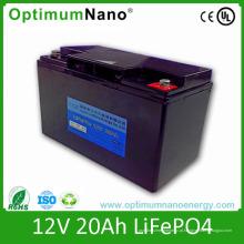Bateria profunda do ciclo 12V 20ah LiFePO4 com CE RoHS do UL